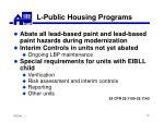l public housing programs72