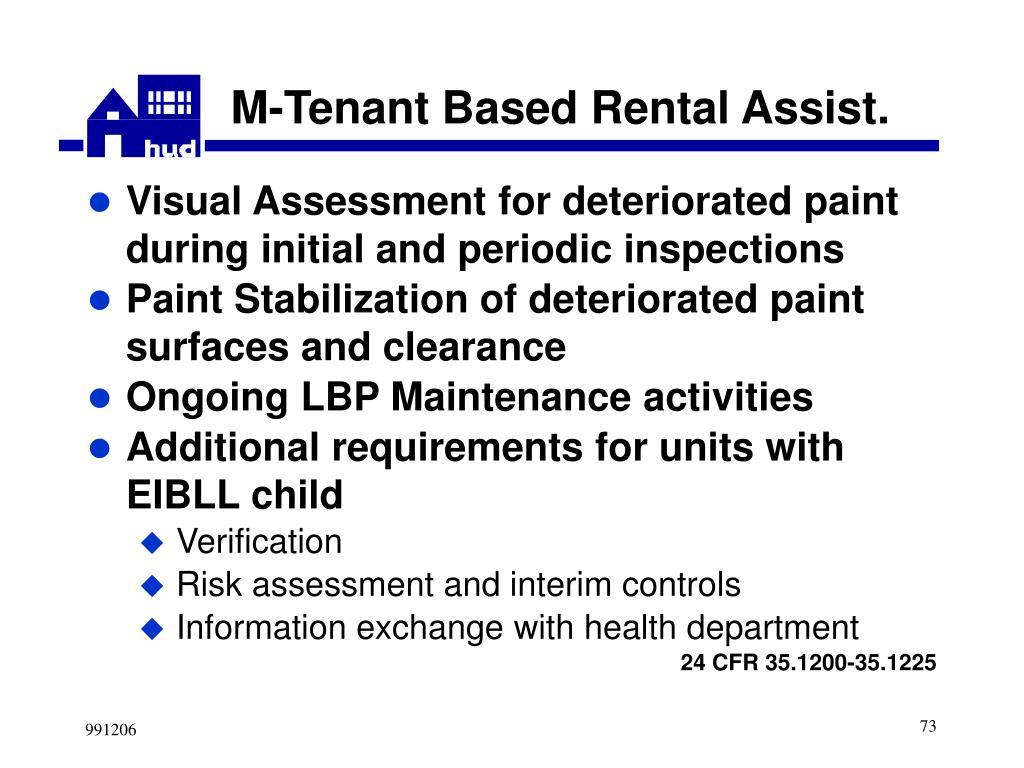 M-Tenant Based Rental Assist.