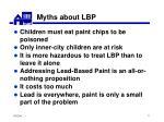myths about lbp