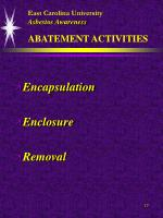 east carolina university asbestos awareness abatement activities