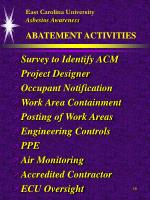 east carolina university asbestos awareness abatement activities18