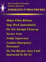 east carolina university asbestos awareness emergency procedures