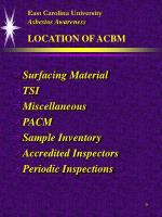east carolina university asbestos awareness location of acbm