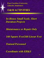 east carolina university asbestos awareness o m activities
