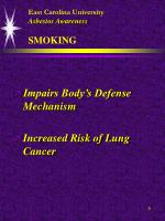 east carolina university asbestos awareness smoking