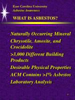 east carolina university asbestos awareness what is asbestos