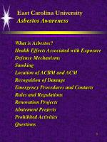east carolina university asbestos awareness3