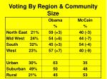 voting by region community size