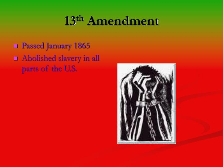 13th amendment