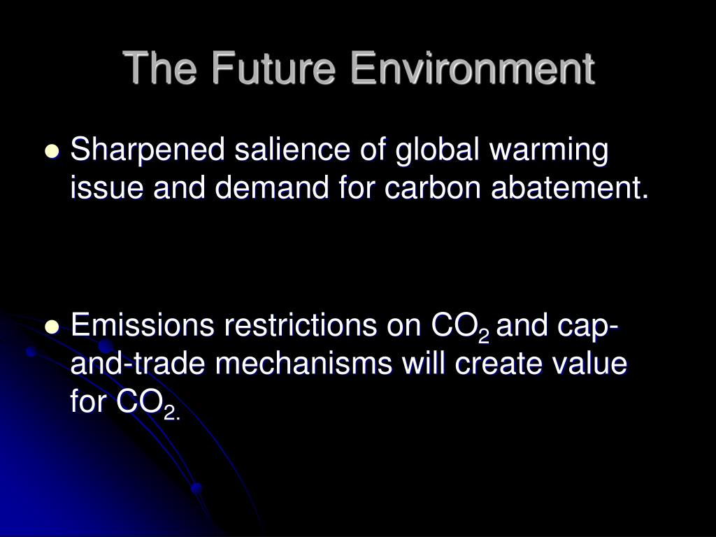 The Future Environment