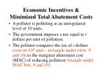 economic incentives minimized total abatement costs