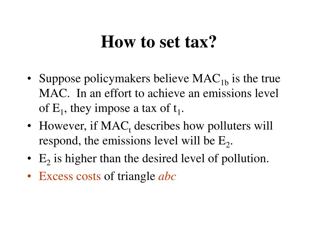 How to set tax?