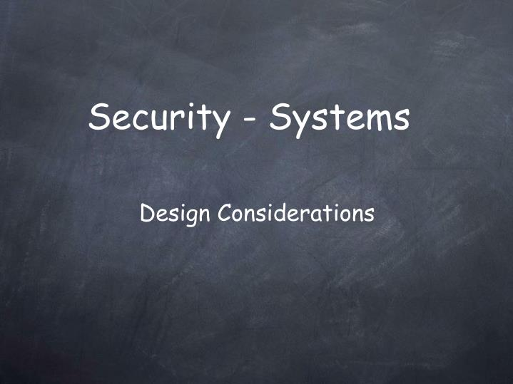 security systems n.