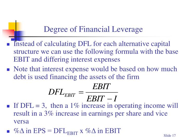 Degree of Financial Leverage