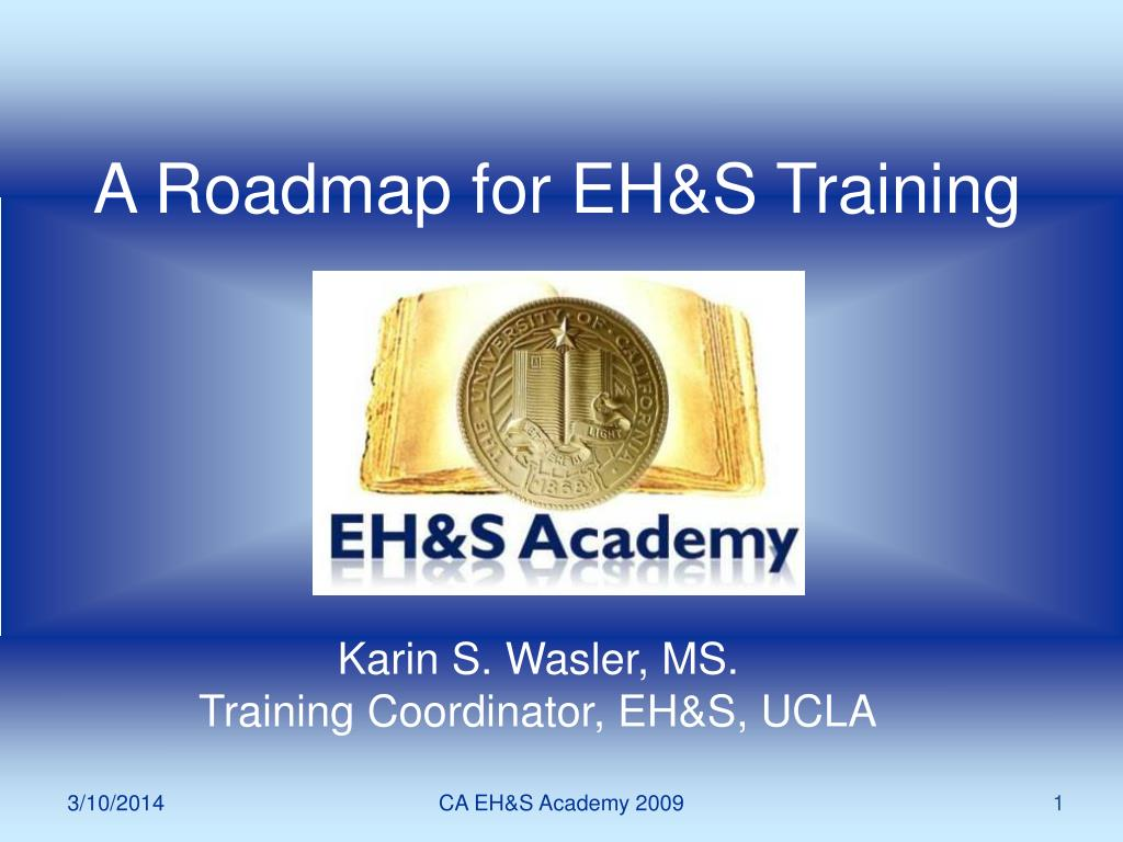 a roadmap for eh s training l.