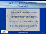 add i e implementation checklist