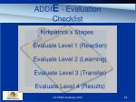 addi e evaluation checklist