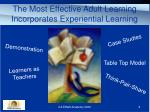 the most effective adult learning incorporates experiential learning