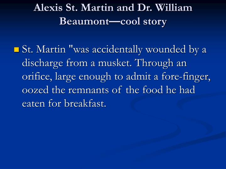 Alexis St. Martin and Dr. William Beaumont