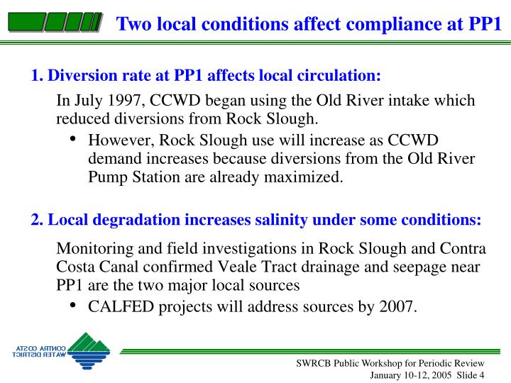 1. Diversion rate at PP1 affects local circulation: