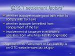 219 1 settlement factors