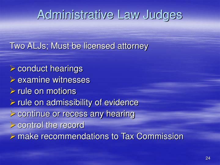 Administrative Law Judges
