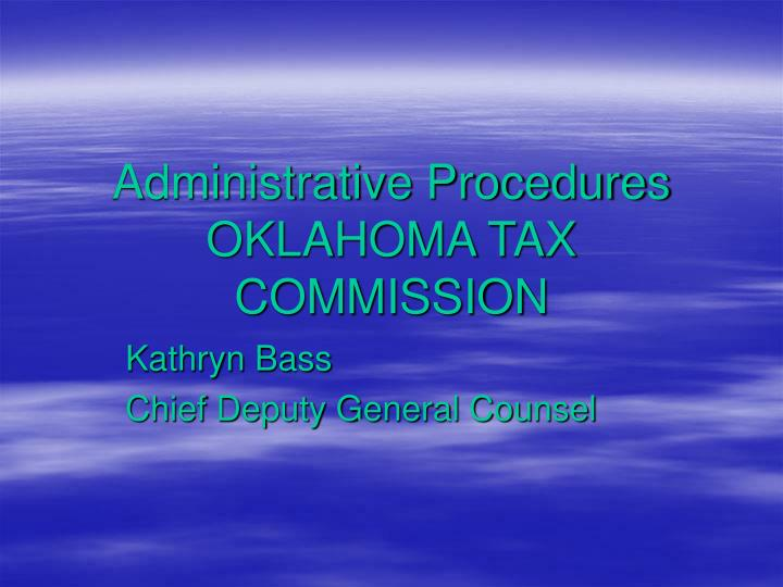 administrative procedures oklahoma tax commission n.