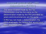 innocent spouse relief irs determination 2361