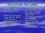 oklahoma tax laws