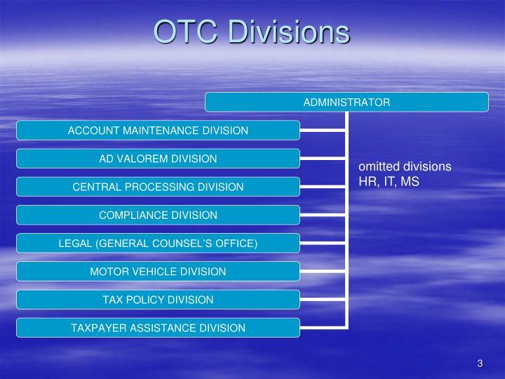 Otc divisions