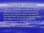 proceedings confidential