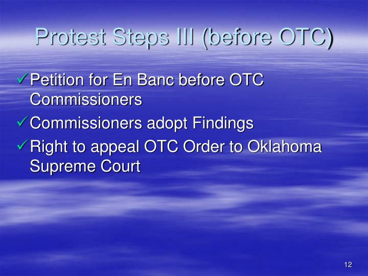Protest Steps III (before OTC)