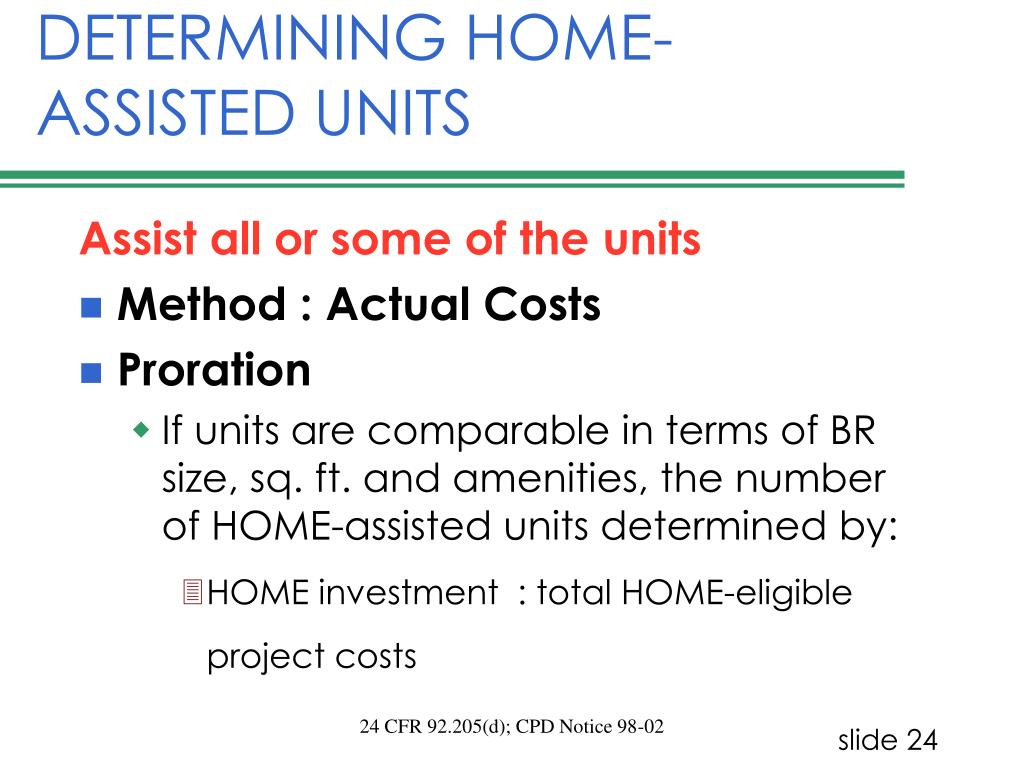 DETERMINING HOME-ASSISTED UNITS