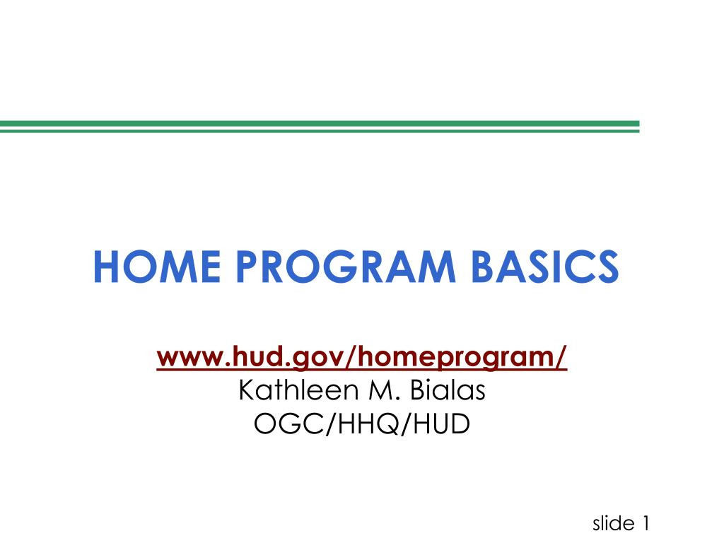 home program basics l.