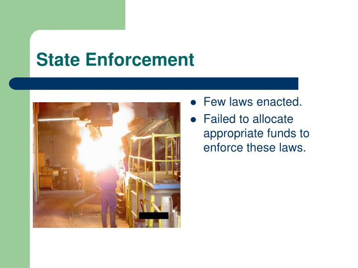State enforcement