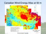 canadian wind energy atlas at 50 m