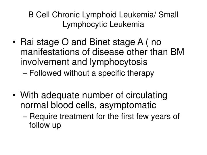 chronic lymphatic leukemia essay Chronic lymphocytic leukemia (cll) is the most common leukemia in adults it's a type of cancer that starts in cells that become certain white blood cells (called lymphocytes ) in the bone marrow the cancer (leukemia) cells start in the bone marrow but then go into the blood.