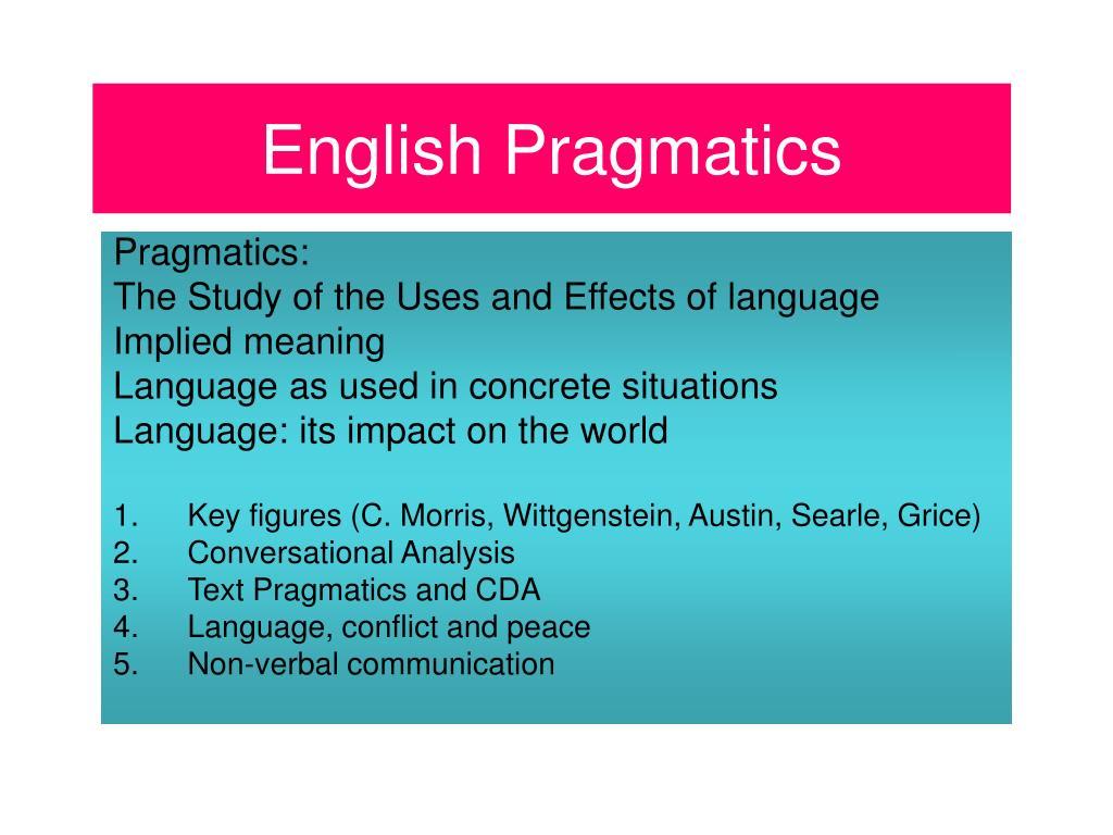 english pragmatics l.