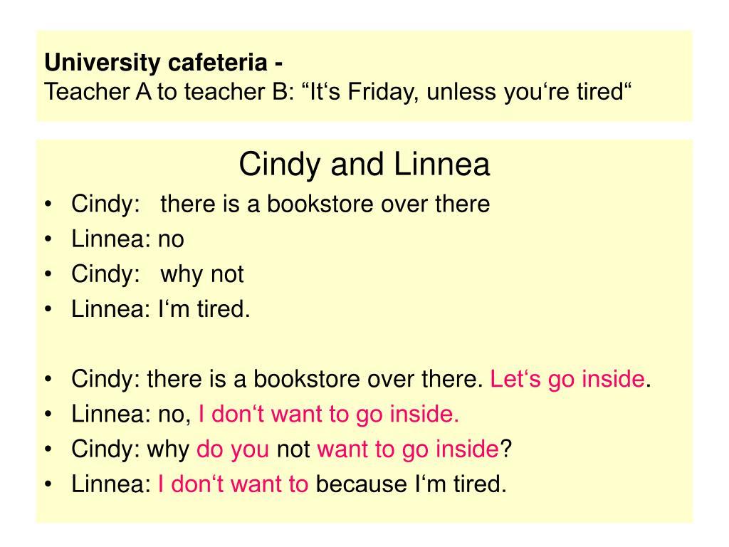 University cafeteria -