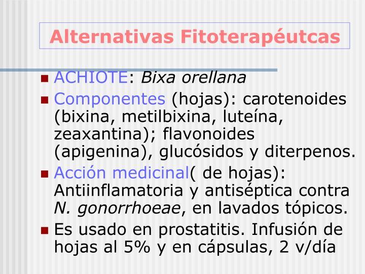 Alternativas Fitoterapéutcas