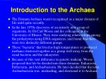 introduction to the archaea