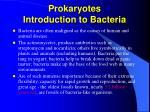 prokaryotes introduction to bacteria