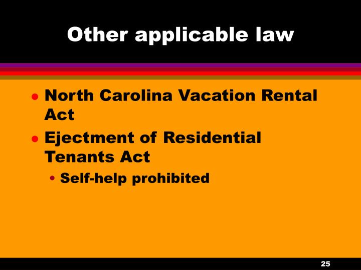 Other applicable law