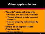 other applicable law1