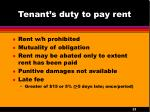 tenant s duty to pay rent