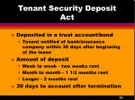 tenant security deposit act