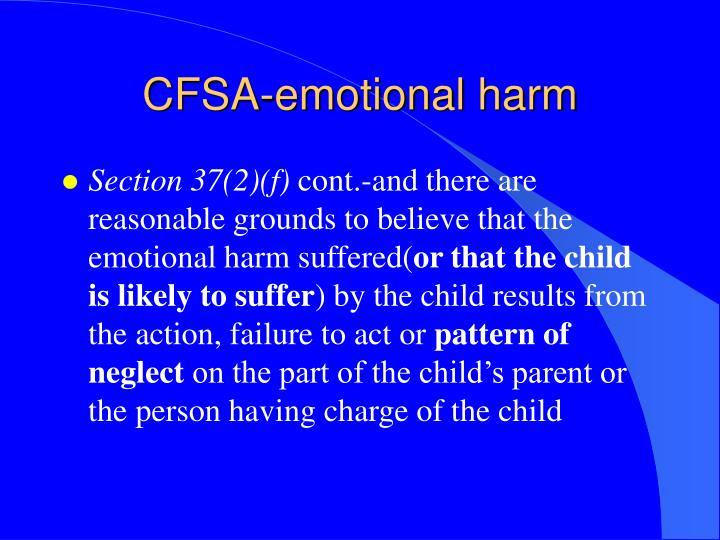 CFSA-emotional harm