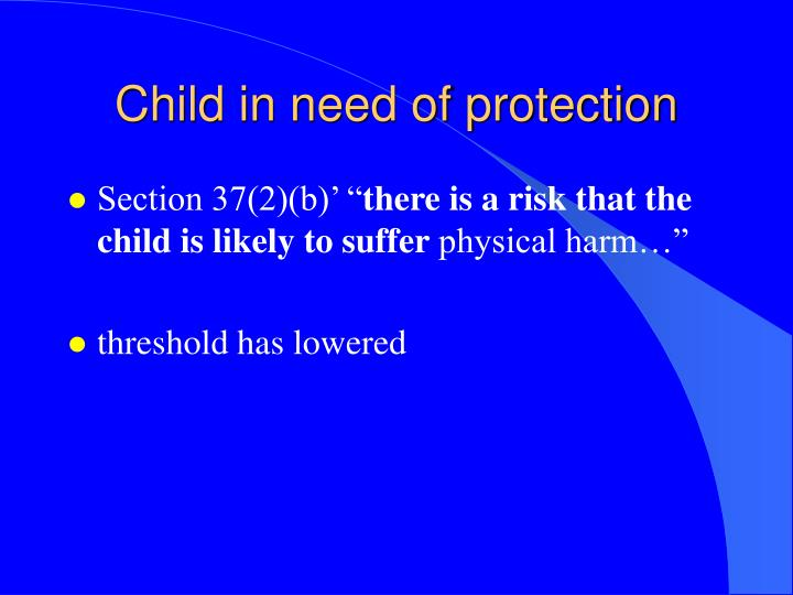 Child in need of protection