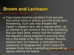 brown and levinson17