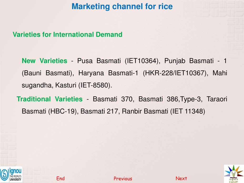 PPT - Marketing channel for rice PowerPoint Presentation
